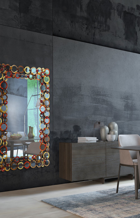Artistic Mirror 'Cerchi Color'