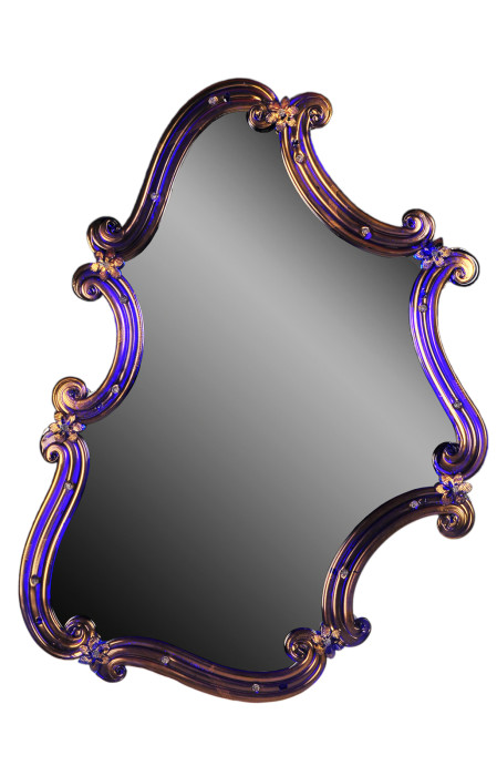 Design Venetian Mirror: Storti co l'oro - Blue